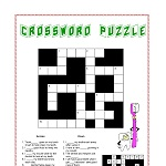 Dental Crossword for Young Child